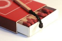 Caja de cerillos Foto de archivo libre de regalías