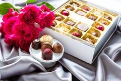 Caja de chocolates Imagen de archivo libre de regalías