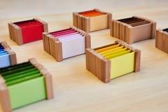 Caja de color de Montessori 3 foto de archivo libre de regalías