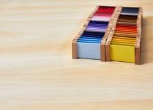 Caja de color de Montessori 3 imagen de archivo