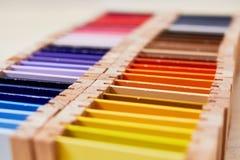 Caja de color de Montessori 3 imágenes de archivo libres de regalías