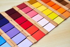 Caja de color de Montessori 3 fotos de archivo