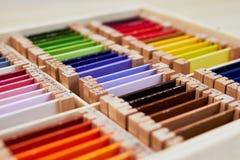 Caja de color de Montessori 3 imagen de archivo libre de regalías