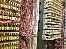 Caja de conexiones del teléfono Foto de archivo libre de regalías