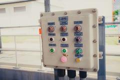 Caja de control de poder del interruptor de la electricidad Fotografía de archivo
