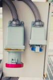 Caja de control de poder del interruptor de la electricidad Fotos de archivo