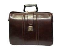 Caja de cuero marrón vieja Fotografía de archivo libre de regalías