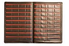 Caja de cuero negra Fotografía de archivo libre de regalías