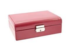 Caja de cuero para la joyería Fotos de archivo libres de regalías