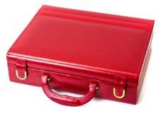 Caja de cuero para la joyería Foto de archivo