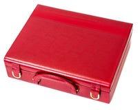 Caja de cuero para la joyería Foto de archivo libre de regalías