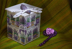 Caja de Decoupage Fotografía de archivo libre de regalías