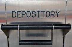 Caja de depósito bancario Imágenes de archivo libres de regalías