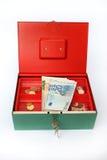 Caja de dinero Foto de archivo