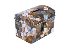 Caja de dinero aislada Fotos de archivo libres de regalías