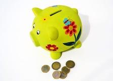 Caja de dinero del cerdo, concepto de ahorro del dinero Imagen de archivo libre de regalías