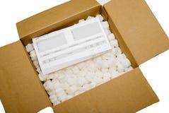 Caja de embalaje con resbalón de orden Imagen de archivo libre de regalías