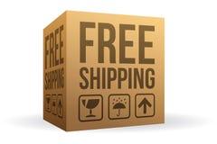 Caja de envío gratis stock de ilustración