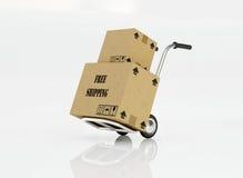Caja de envío gratis Imágenes de archivo libres de regalías