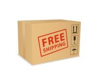 Caja de envío gratis. Fotografía de archivo