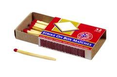 Caja de fósforos - camino de recortes Imágenes de archivo libres de regalías
