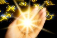 Caja de fortuna de la astrología Imagen de archivo libre de regalías