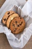 Caja de galletas gastrónomas Imágenes de archivo libres de regalías