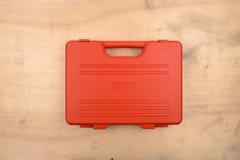 Caja de herramientas anaranjada del pvc Imagen de archivo