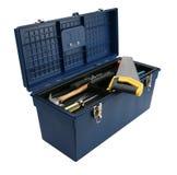 Caja de herramientas azul Imagen de archivo libre de regalías