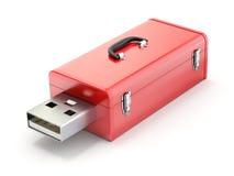 Caja de herramientas con el enchufe del USB stock de ilustración