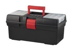 Caja de herramientas con la maneta que lleva. Foto de archivo libre de regalías
