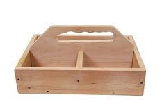 Caja de herramientas de madera Fotos de archivo