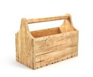 Caja de herramientas de madera vacía Imagenes de archivo