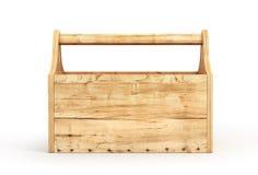 Caja de herramientas de madera vacía Fotos de archivo