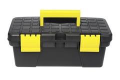 Caja de herramientas negra en el fondo blanco fotos stock - Caja herramientas vacia ...