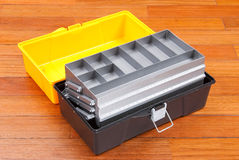 Caja de herramientas plástica Foto de archivo libre de regalías