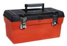 Caja de herramientas plástica anaranjada Fotografía de archivo libre de regalías