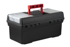Caja de herramientas plástica. Imagen de archivo libre de regalías