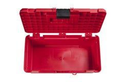 Vacie la caja de herramientas roja imagen de archivo - Caja herramientas vacia ...