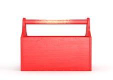 Caja de herramientas vacía roja Imágenes de archivo libres de regalías