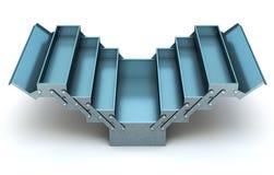 Caja de herramientas voladiza azul ilustración del vector