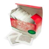 Caja de infusión de hierbas en bolsas de papel Fotografía de archivo libre de regalías