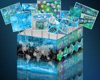 Caja de Internet Imágenes de archivo libres de regalías