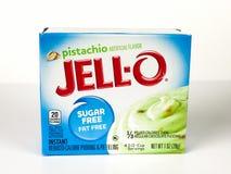 Caja de Jello Sugar Free Pistachio Pudding Mix Foto de archivo libre de regalías