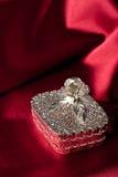 Caja de joya de plata Imágenes de archivo libres de regalías