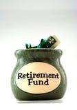 Caja de jubilación Fotografía de archivo libre de regalías