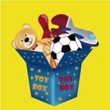 Caja de juguetes Fotos de archivo