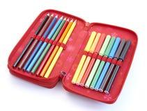Caja de lápiz 1 Foto de archivo libre de regalías