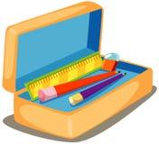 Caja de lápiz stock de ilustración