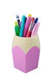 Caja de lápiz Imagen de archivo libre de regalías